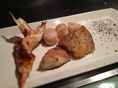 Fresh seafood combo: Fish, Shrimp, Scallops
