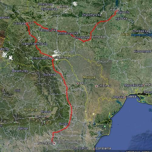 Travelling from Bucharest, Romania to Kiev, Ukraine by train