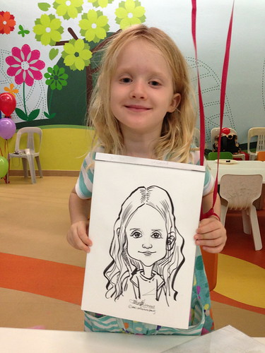 caricature live sketching for birthday party 21042013