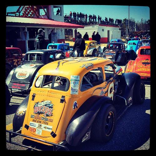 29 car #uslegends field today! #8 #racing #raceday #Maine #racecar