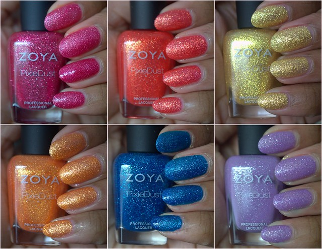 Zoya PixieDust nail polishes – summer edition!