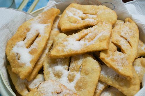 mica tortas fritas hot and covered in sugar