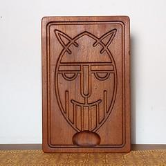 Teak Viking Cutting Board by Skjode Skjern Danish