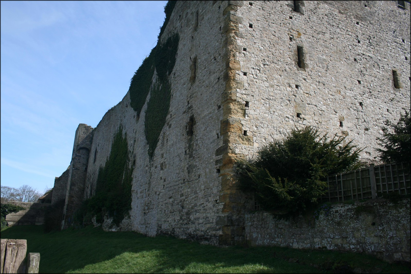Amberley, West Sussex Amberley Castle walls