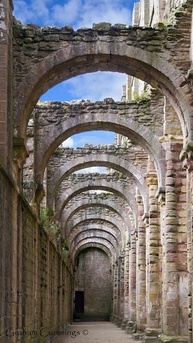 abbey architecture arch yorkshire perspective ruin arches explore fountains nationaltrust churc abbeyfountainsabbeyyyorkshirenorth