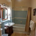 Bath with marble floors