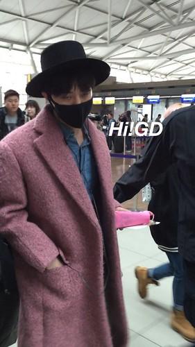 Big Bang - Incheon Airport - 21mar2015 - G-Dragon - Hi GD - 05