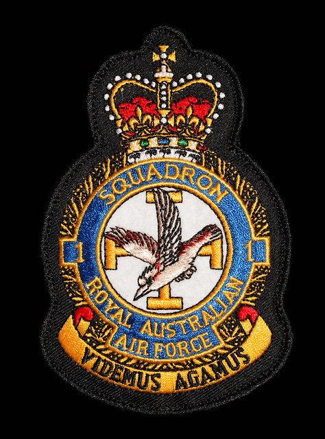 No. 1 Squadron Royal Australia Air Force Unit Patch, Pitch Black exercise 2016, Darwin, Northern Territory, Australia.