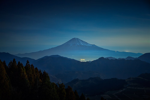 winter moonlight nightview mtfuji 2013 seaofcloud