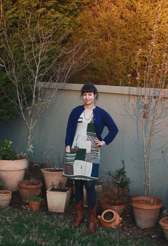 Knit Patchwork Dress