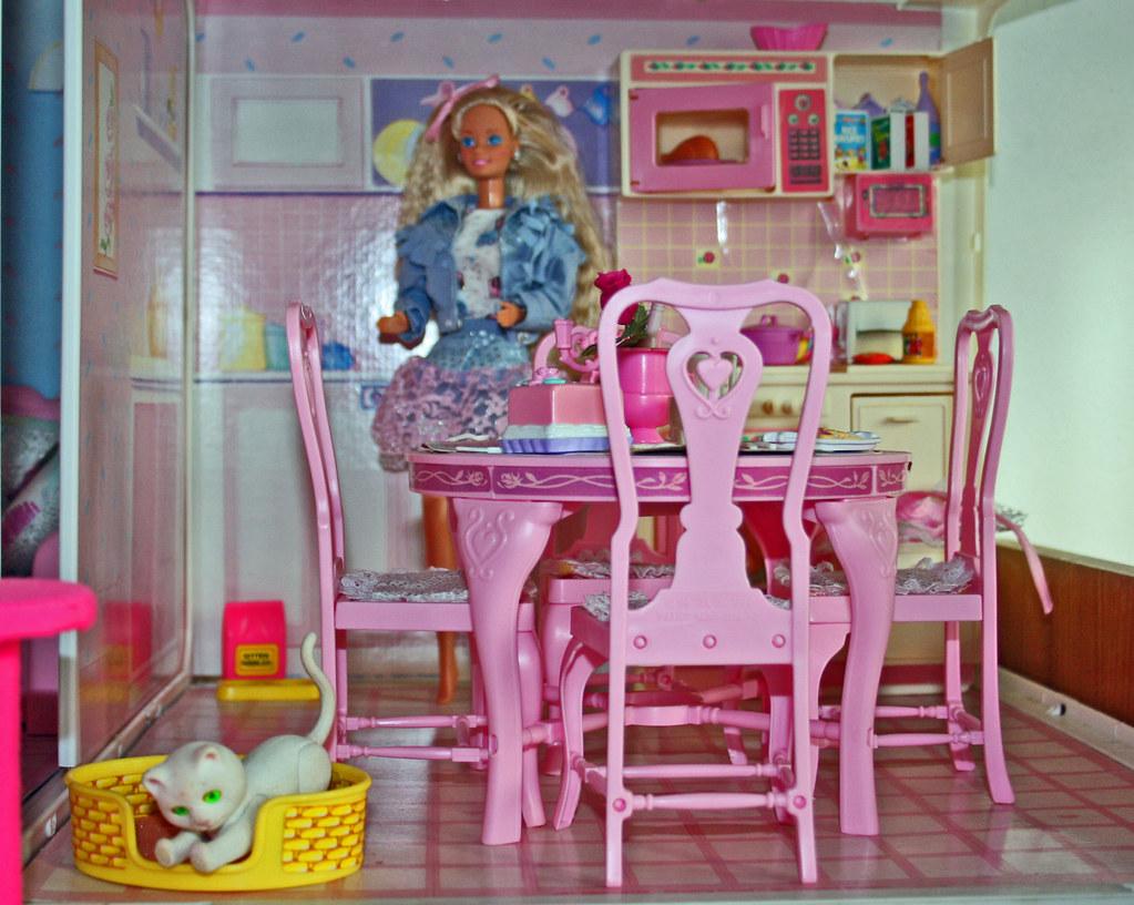 Barbie living pretty furniture - cucina sala da pranzo   Flickr