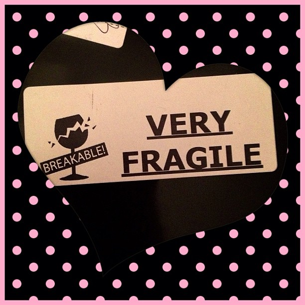 This one goes so well with the heart shape #heart #fragile #parcel