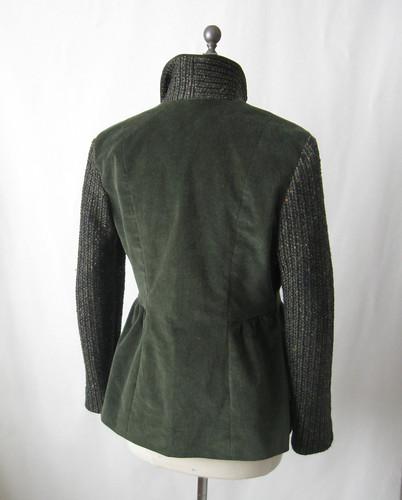olive cord jacket back