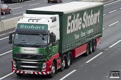 Volvo FH 6x2 Tractor - PX61 BFL - Shannon Denise - Eddie Stobart - M1 J10 Luton - Steven Gray - IMG_1785