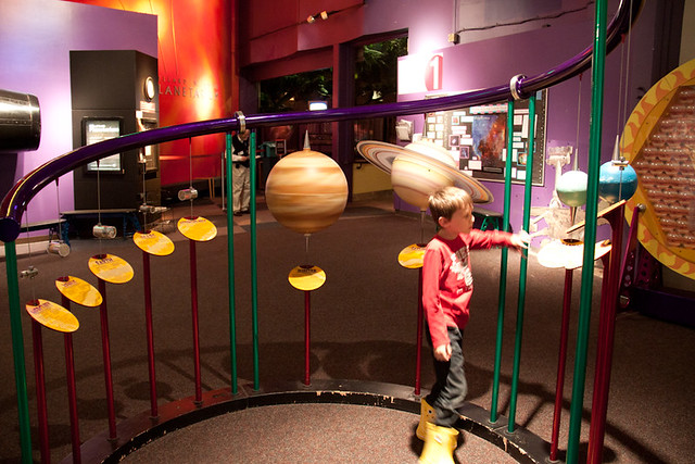 Scale model solar system