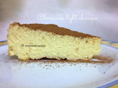 new york cheesecake light al cacao