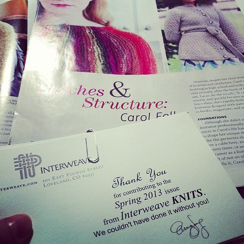Look what arrived today! My contributor's copy of IK. Love how my profile of @stolenstitches turned out!