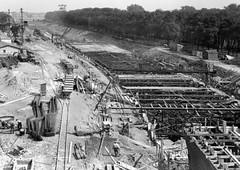Bouw Maastunnel 1938