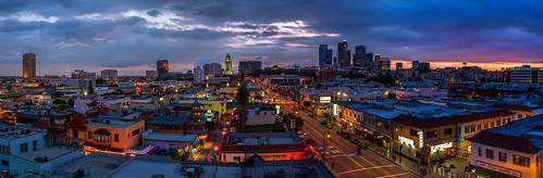 california sunset losangeles downtown chinatown cityscape chinesenewyear panoramic dtla downtownlosangeles 2470mm hdrpano canon7d ©shabdrophoto
