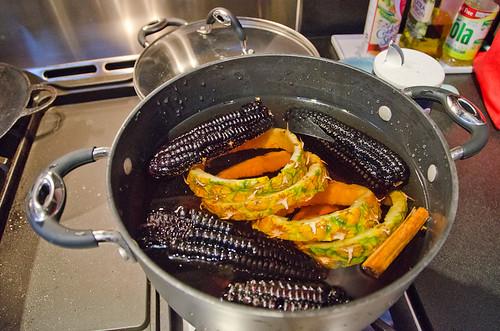 Peruvian Dinner - Making chicha morada