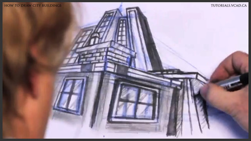 learn how to draw city buildings 036
