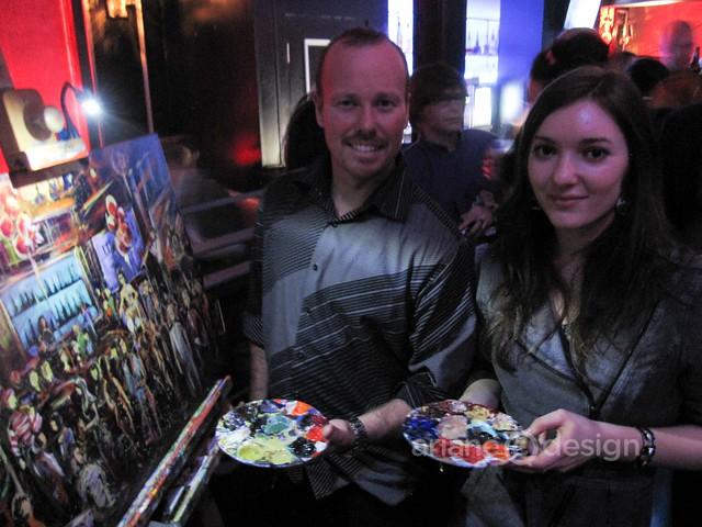 Firebird Live Art painting the Fake Film Festival Gala scene