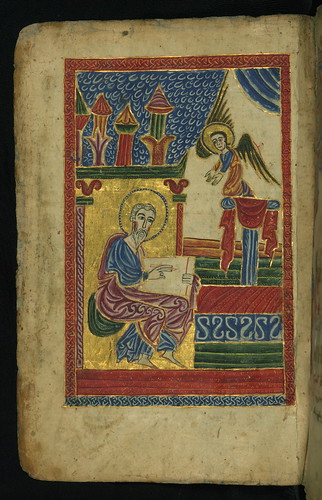 Gospel Book, Evangelist portrait of St. Matthew, Walters Manuscript W.540, fol. 17v by Walters Art Museum Illuminated Manuscripts
