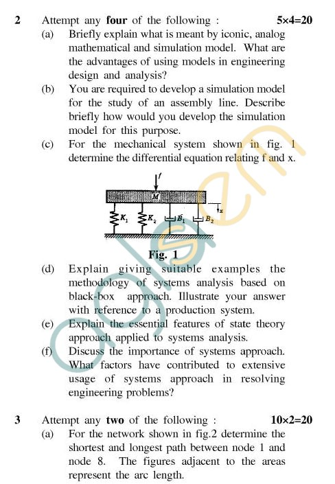 Uptu B Tech Question Papers Me 802 Mechanical System Design Aglasem