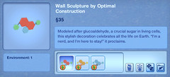 Wall Sculpture by Optimal Construction