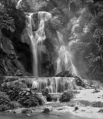 waterfall si laos kuang