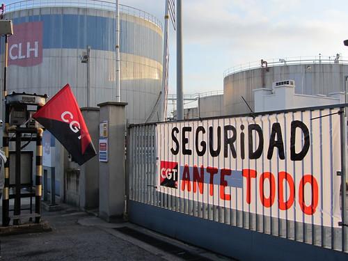 Imatge a CLH :Protesta per la seguretat a petroquimica de Tarragona
