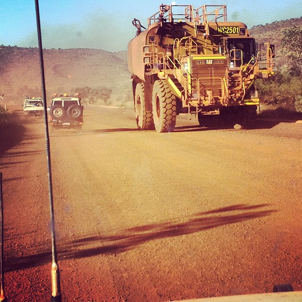 Big truck is big
