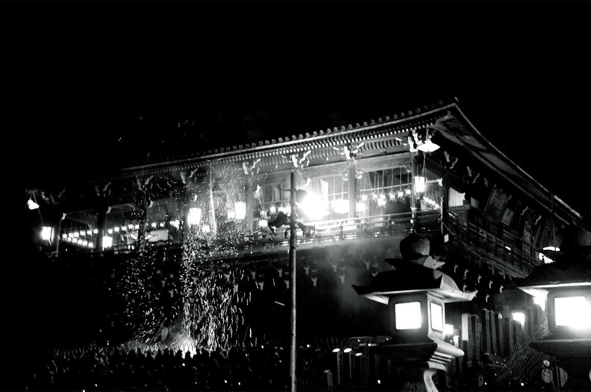 お松明|東大寺
