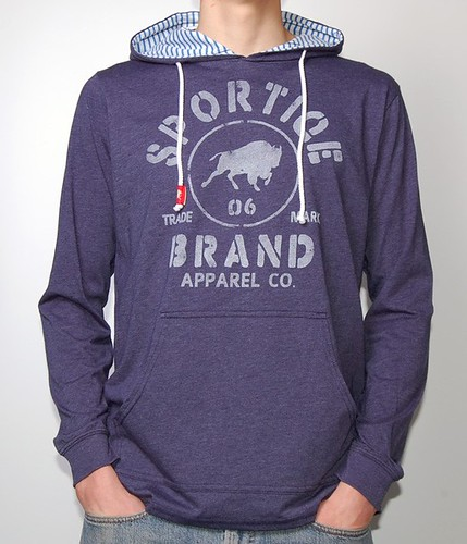 Sportiqe Blue Stanton Hooded Sweatshirt