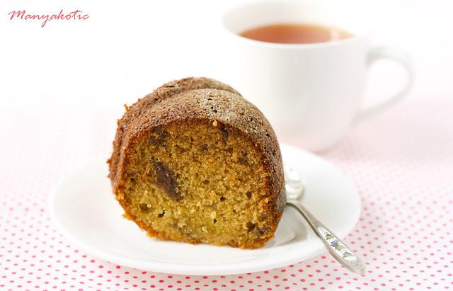 Апельсиново-финиковый кекс и конфеты Orange and date bundt cake
