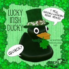 LuckyIrish Ducky shoulder pet