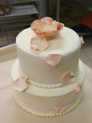 Blush & Ivory Wedding Cake by Sugar Daze