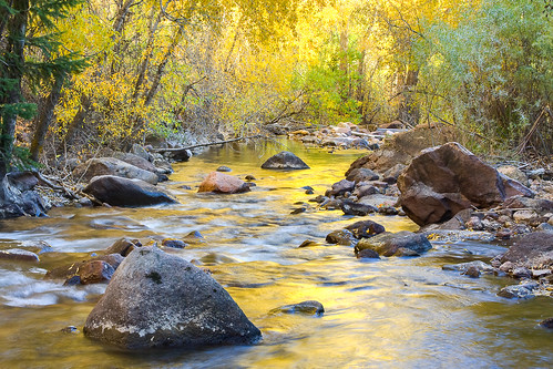 morning autumn yellow sunrise reflections colorado unitedstates boulder creeks waterscapes eldoradocanyonstatepark