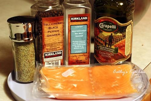 迷迭香料烤鮭魚片  Rosemary with Salmon 3
