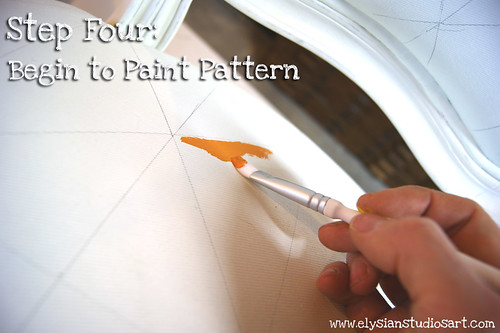 Paint Pattern onto chair fabric