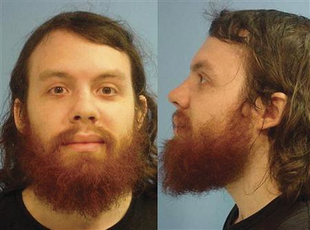 Police booking photo of Andrew Auernheimer