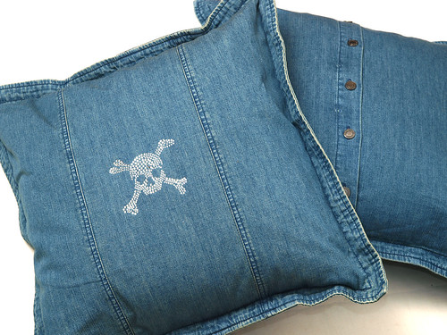 Ralph Lauren / Skull Denim Cushion