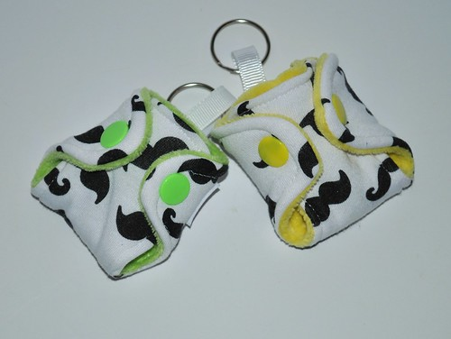 KeyBums� Mustache choice of lime/yellow