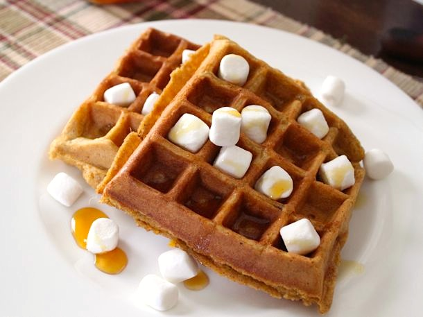 Whole Grain Corn and Sweet Potato Waffles (rice free_
