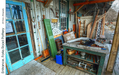 Entrance, Forks Road Pottery – (HDR/Tone-Mapped)