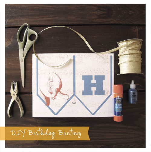 DIY Birthday Bunting: Supplies