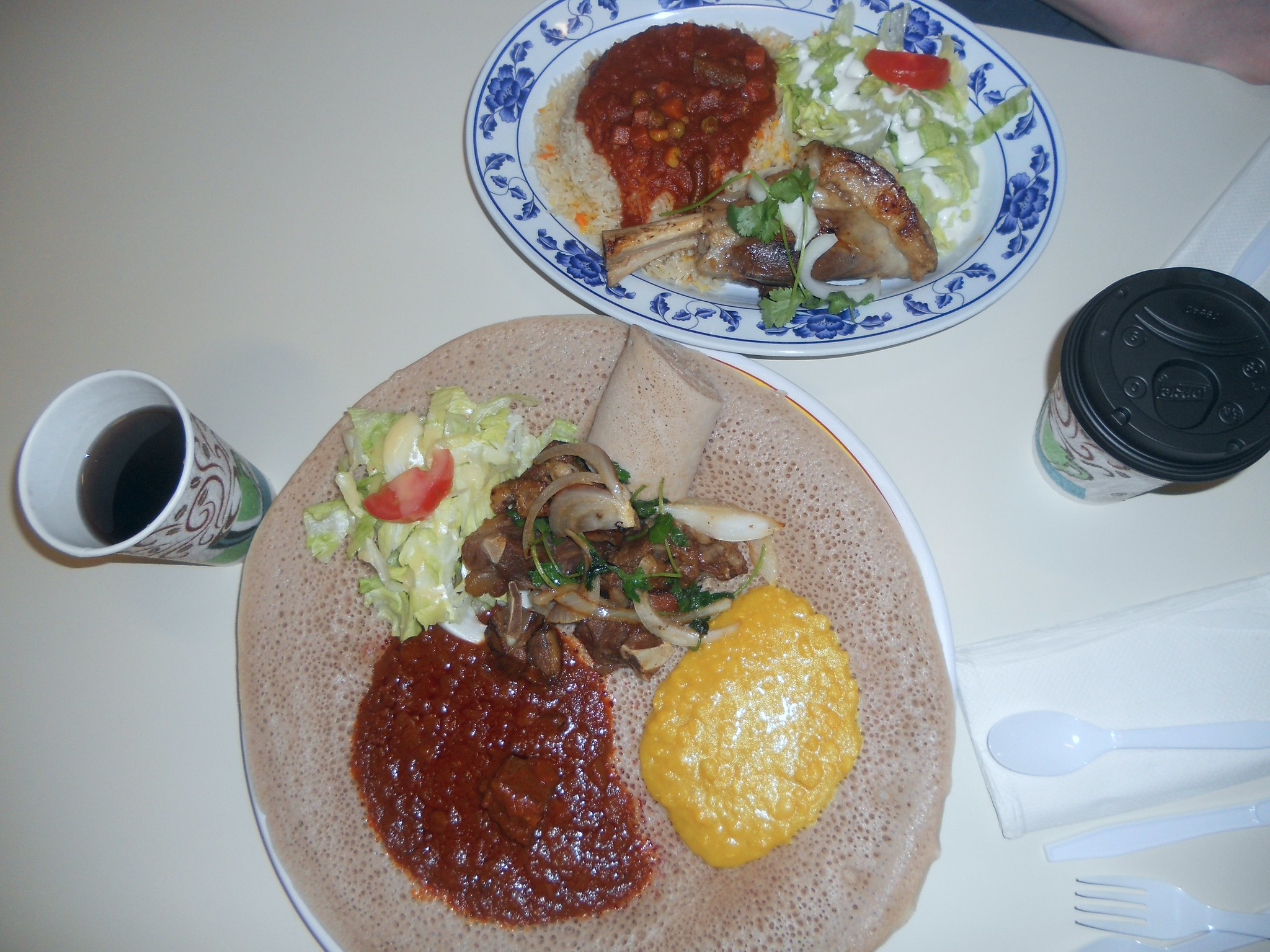 Delicious Ethiopian food at International Cafe Omaha