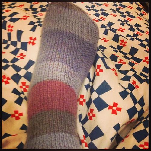 My firts sock !! @emmafassio @silviaf  #lavoroamaglia #knit #yarn #sock