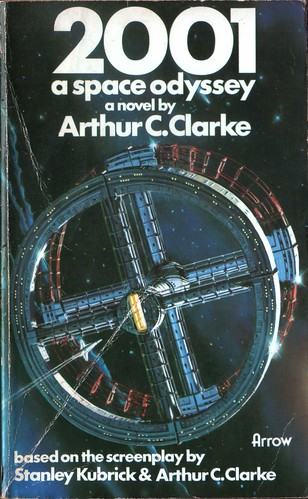 2001 A Space Odyssey by  Arthur C. Clarke. Arrow 1976. Cover artist Peter Elson
