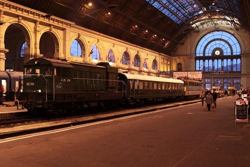 MÁV heritage train at Budapest Keleti pályaudvar